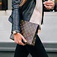 LV  hot seller of men's and women's briefcase wallets