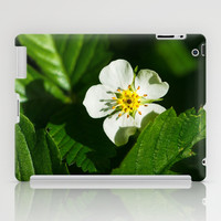 Wild Strawberry Flower iPad Case by Digital2real