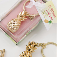 Pineapple Favor Keychain (Gold)