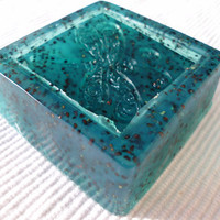 Handmade Olive Oil Soap, Night Jasmine scented with Blueberry Seeds