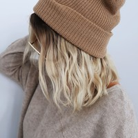 Chilly Nights Beanie: Tan