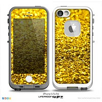 The Gold Glimmer Skin for the iPhone 5-5s Fre LifeProof Case