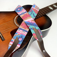 Santa Fe Southwestern Guitar Strap with by HandmadeStraps on Etsy