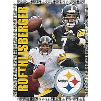 "Ben Roethlisberger - Pittsburgh Steelers NFL Players 48""x 60"" Woven Tapestry Throw"