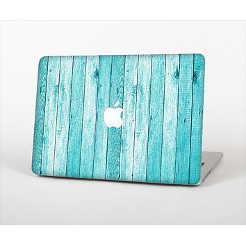 """The Trendy Blue Abstract Wood Planks Skin Set for the Apple MacBook Pro 13"""" with Retina Display"""