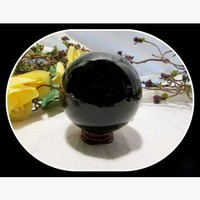 Black Obsidian Crystal Ball & Stand 80mm