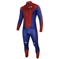 Spider-man Blue Costume Cycling Kits Bicycle Suit Long Jersey