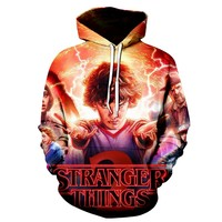 Stranger Things 3D Print Hooded Tracksuits