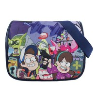 Anime Gravity Falls Polyester Shoulder Bag/Messenger Bag/School Bag with Colorful Printing