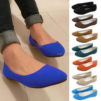 2014 Fashion New Ladies Ballerina Dolly Microsuede Womens Slippers Flat Shoes Cindy  Color