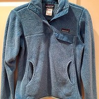 Patagonia Womens Re-Tool Snap-T Fleece Pullover Sz XS Light Blue Jacket 25441
