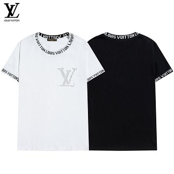 Louis Vuitton LV autumn and winter new short-sleeved classic flower star print fashion men's and women's T-shirt