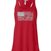 Fourth of July American Flag Women's Tank Top