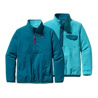 Patagonia Women's Reversible Snap-T® Glissade Pullover | Underwater Blue