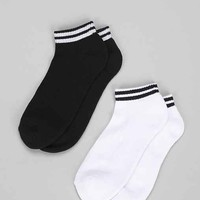 Top Stripe Ankle Sock- Black One