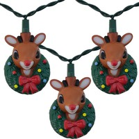 Rudolph The Red Nosed Reindeer Set of 10 String Lights