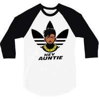 hey auntie killmonger 3/4 Sleeve Shirt