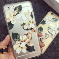 Retro Flower Case Cover for iPhone 6 6s Plus Gift 26