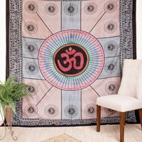 Om Indian Tapestry - Tie Dye