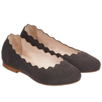 Girls Brown Suede Slip-On Shoes (Mini-Me)