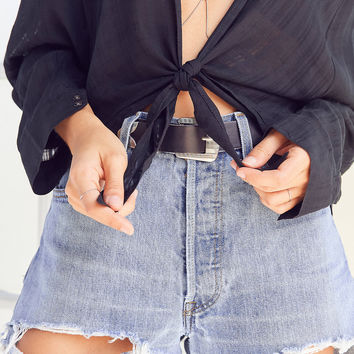 BDG Courtney Tie-Front Open Blouse | Urban Outfitters