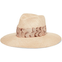 Eugenia Kim - Emmanuelle feather-trimmed straw sunhat
