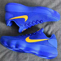 """Nike""  Hyperdunk Low Fashion Color Soles Breathable Sneakers Basketball shoes Sport Shoes Blue G-PSXY"