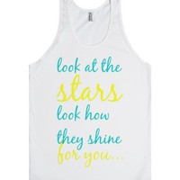 Coldplay - Yellow-Unisex White Tank
