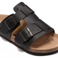 Birkenstock Riva Sandals Artificial Leather Black - Ready Stock