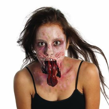 The Walking Dead Split Jaw Latex Appliance, Standard color, One Size
