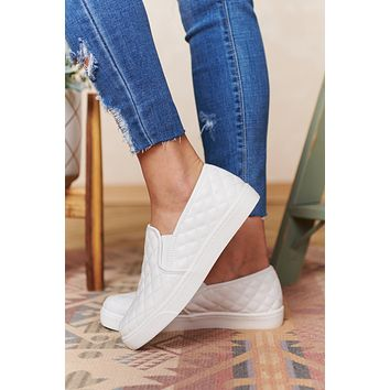Hitting The Streets Slip On Sneakers (White)