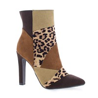 Yvette By Delicious, Pointy Toe Thick High Heel Ankle Bootie