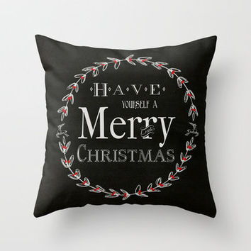Merry Christmas Throw Pillow by Brandy Coleman Ford   Society6