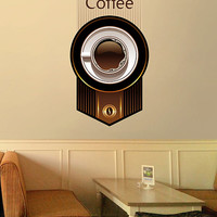 kcik491 Full Color Wall decal coffee cup drink cafe restaurant
