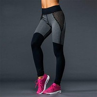 Women Gauze Tight Sport Yoga Stretch Pants Trousers Sweatpants