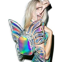 Iridescent Transparent Butterfly Vinyl Backpack (4 colors)