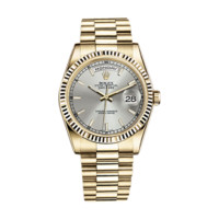 Rolex Day-Date 36 118239 White Gold Watch (White Mother-of-Pearl Set with Diamonds) | World's Best