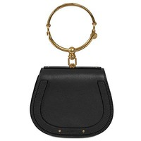 Chloe Nile Bracelet Small Black Leather Shoulder Bag