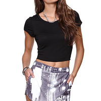 Kirra Fitted Cropped Solid Tee at PacSun.com
