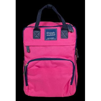 Simply Southern Preppy Classic Pink Backpack Bag