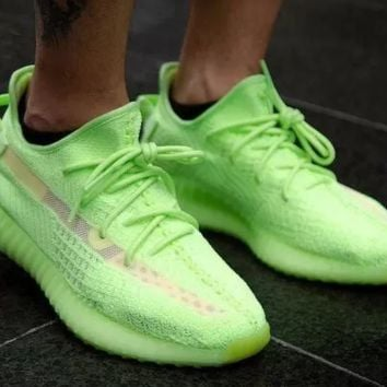 Adidas Yeezy Boost 350 V2 Fashion couple casual shoes Green