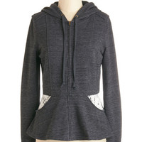 ModCloth Mid-length Long Sleeve Hoodie Stopping for Fro-Yo Hoodie