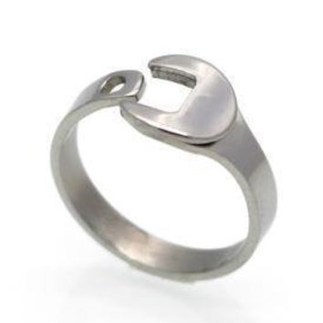 Polished Stainless Steel Wrench Ring