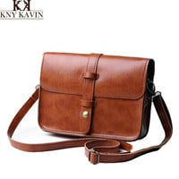 Vintage Shoulder Bags High Quality PU Leather