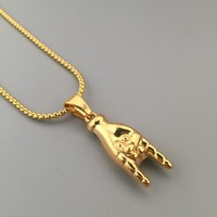 Gift Shiny Jewelry Stylish New Arrival Hot Sale Fashion Hip-hop Club Necklace [6542769795]
