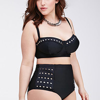 Perforated High-Waisted Bikini Bottoms