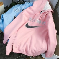 Nike autumn and winter men and women sweater hooded jacket F-HYLFZC