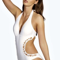 Toulouse Macrame Detail Cut Out Swimsuit