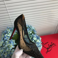 Fashion Christian Louboutin Cl Follies Strass Pumps Black Reference #2115