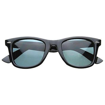 Classic Retro Polarized Lens Horned Rim Sunglasses